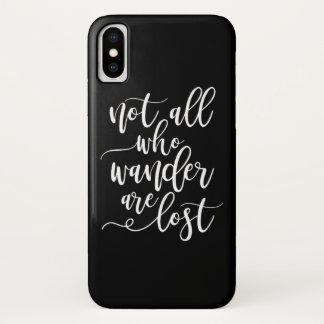 Coque iPhone X La typographie fraîche pas toute de voyage qui