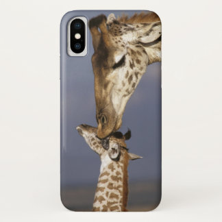Coque iPhone X L'Afrique, Kenya, masai Mara. Girafes (girafe