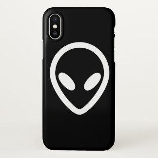 Coque iPhone X L'alien minimaliste vous observe