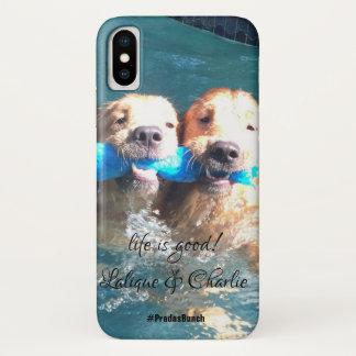 Coque iPhone X Lalique et cas de téléphone de Charlie - piscine