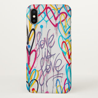 Coque iPhone X L'amour est cas de l'iPhone X d'amour