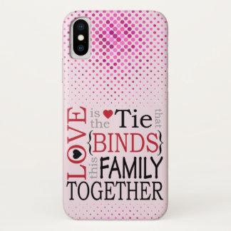 Coque iPhone X L'amour lie la crique de cellules de cadeau de