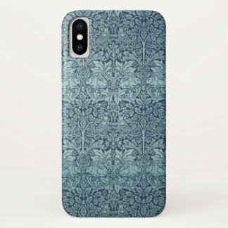 Coque iPhone X Lapin de Brer par William Morris, motif de textile