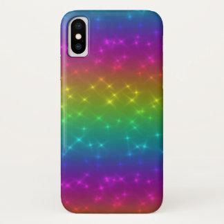 Coque iPhone X L'arc-en-ciel lumineux miroite cas de téléphone