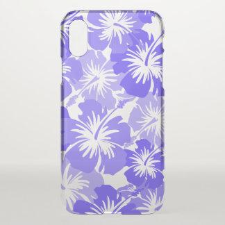 Coque iPhone X Lavande florale hawaïenne de ketmie épique Aloha -