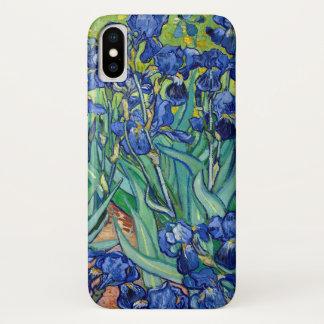 Coque iPhone X Le bleu de Vincent van Gogh d'iris fleurit l'art