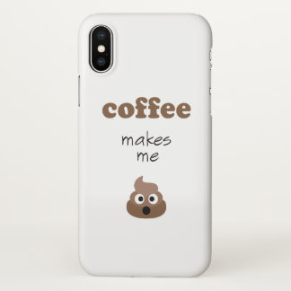 Coque iPhone X Le café drôle me fait l'expression d'emoji de
