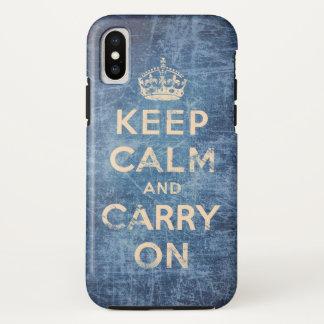 Coque iPhone X Le cru gardent le calme et continuent