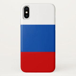 Coque iPhone X Le drapeau de la Russie