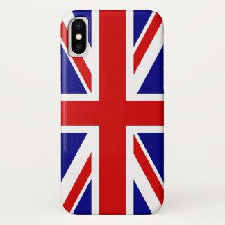 Coque iPhone X Le drapeau d'Union Jack du R-U - Royaume-Uni
