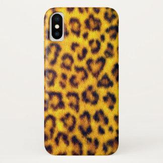 Coque iPhone X Le léopard exotique de Faux repère le poster de