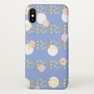 Coque iPhone X le marbre rose violet élégant entoure des