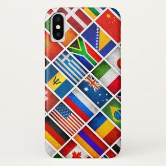 Coque iPhone X Le monde marque la caisse d'Iphone X