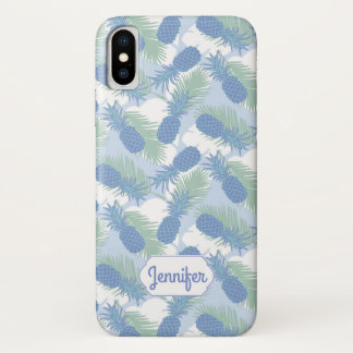 Coque iPhone X Le motif en pastel tropical | d'ananas ajoutent