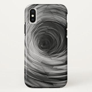 Coque iPhone X Le noir a facetté le remous - cas de l'iPhone X