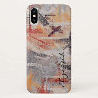 Coque iPhone X Le pastel coloré soustraient le motif