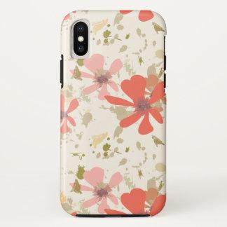 Coque iPhone X Le ressort floral moderne abstrait fleurit des