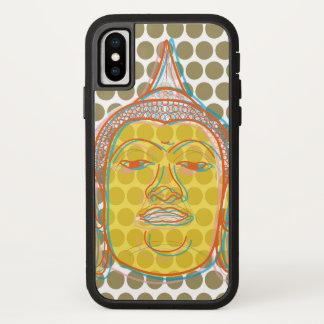 Coque iPhone X Le zen asiatique de Bouddha, bruit d'art moderne