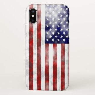 COQUE iPhone X   LES CAISSES DU DRAPEAU AMÉRICAIN IPHONE X, UN DIEU