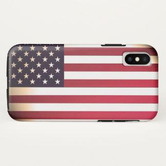 Coque iPhone X Les Etats-Unis du drapeau américain