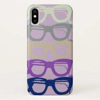 Coque iPhone X Les lunettes refroidissent de rétros verres de