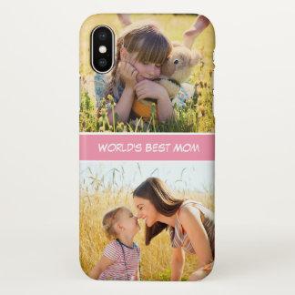 Coque iPhone X Les meilleures photos de famille faites sur