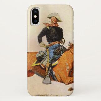 Coque iPhone X Les militaires vintages, une cavalerie commandent