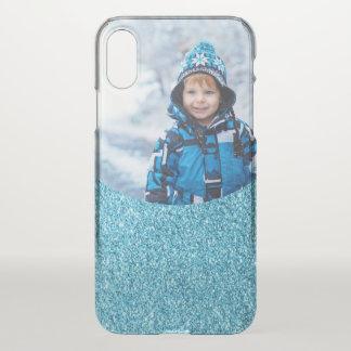 Coque iPhone X Les parties scintillantes bleues de Faux créent