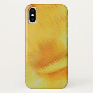 Coque iPhone X Les plumes de jaune de perroquet d'arums se