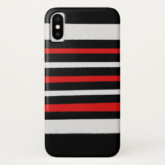 Coque iPhone X Les rayures rouges blanches noires refroidissent