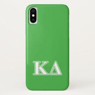 Coque iPhone X Lettres de blanc de delta de Kappa