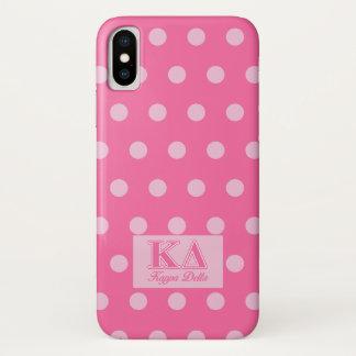 Coque iPhone X Lettres de rose de delta de Kappa