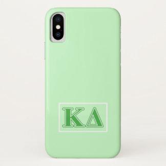 Coque iPhone X Lettres de vert de delta de Kappa
