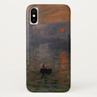Coque iPhone X Lever de soleil d'impression par Claude Monet, art