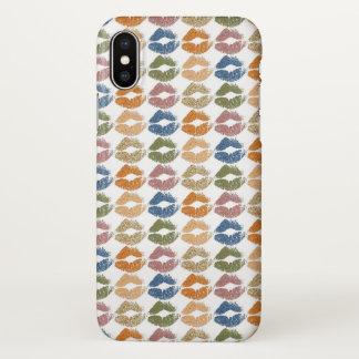 Coque iPhone X Lèvres colorées élégantes