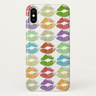 Coque iPhone X Lèvres colorées élégantes #5