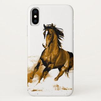 Coque iPhone X Liberté - cheval fonctionnant