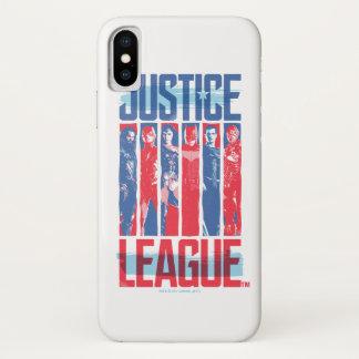 Coque iPhone X Ligue de justice art bleu et rouge de   de groupe
