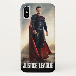 Coque iPhone X Ligue de justice | Superman sur le champ de