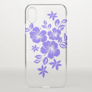 Coque iPhone X Lilas floral hawaïen de ketmie de Lilikoi