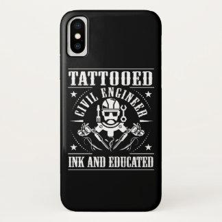 Coque iPhone X L'ingénieur civil tatoué a encré instruit