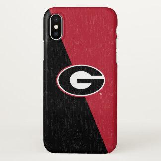 Coque iPhone X Logo   de bouledogues de la Géorgie affligé