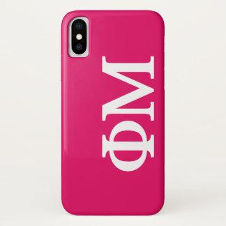 Coque iPhone X Logo de la MU Lil de phi grand