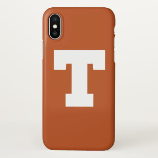 Coque iPhone X Logo de l'Université du Texas | le Texas