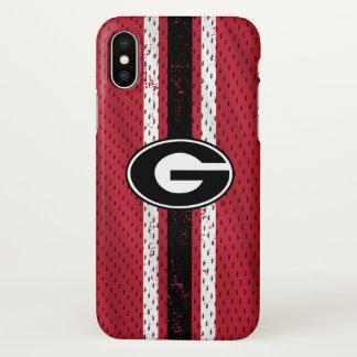 Coque iPhone X Logo   Jersey de bouledogues de la Géorgie