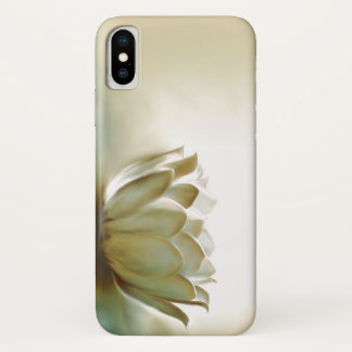 Coque iPhone X Lotus blanc