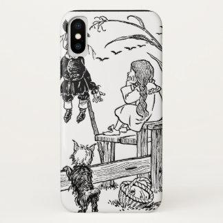 Coque iPhone X Magicien d'Oz vintage, épouvantail de