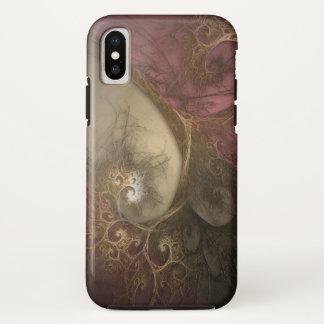 Coque iPhone X Magie couleur cerise de fractale