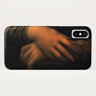Coque iPhone X Mains de Leonardo Mona Lisa