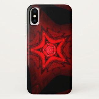 Coque iPhone X Mandala d'étoile de sang de démon de Luciferian